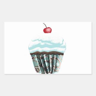 Cupcake Rectangular Sticker