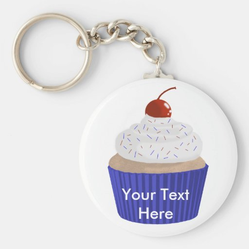 Cupcake-Red White and Blue Key Chains