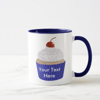 Cupcake-Red White and Blue Mug