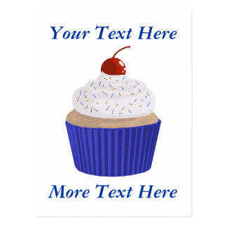 Cupcake-Red White and Blue Postcard