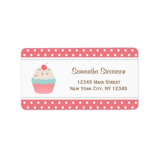 Cupcake Return Address Labels