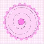 Cupcake. rosado bonito escultura fotografica