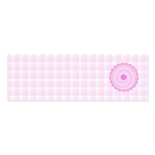 Cupcake. rosado bonito tarjetas de visita mini