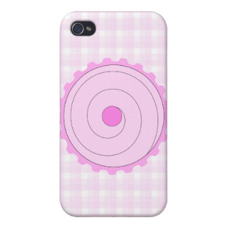 Cupcake rosado iPhone 4 cárcasas
