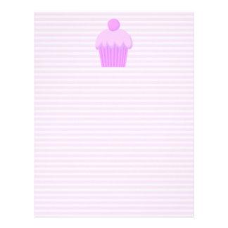 Cupcake rosado membrete personalizado
