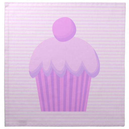 Cupcake. rosado servilletas