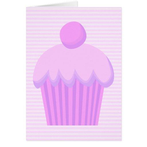 Cupcake. rosado tarjetas