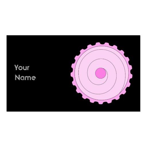 Cupcake. rosado tarjetas de visita