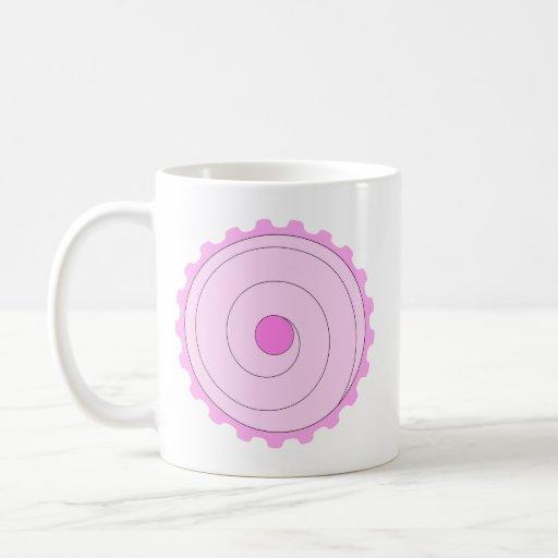 Cupcake. rosado tazas de café