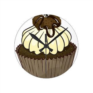 Cupcake Round Clock