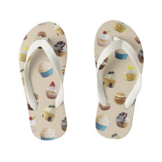 Cupcake Royale Kid's Flip Flops at Zazzle