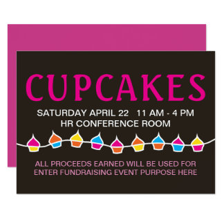 cupcake sale handbill flyers card