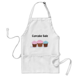 Cupcake Sale - Trio of Frosted Cupcakes Adult Apron