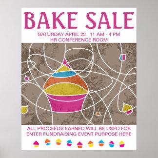 CUPCAKE shapes bake sale poster