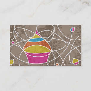 Cupcake shaped office school products zazzle cupcake shapes business card colourmoves