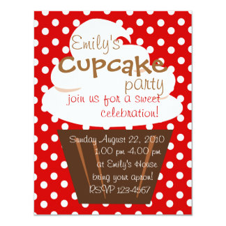 """Cupcake Shaping Up Nicely 4.25"""" X 5.5"""" Invitation Card"""