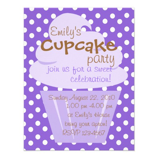 Cupcake Shaping Up Nicely Invitations