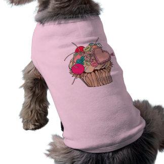 cupcake shirt dog shirt
