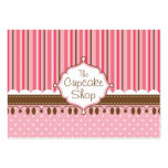 Cupcake Shop Chubby Large Business Cards (Pack Of 100)