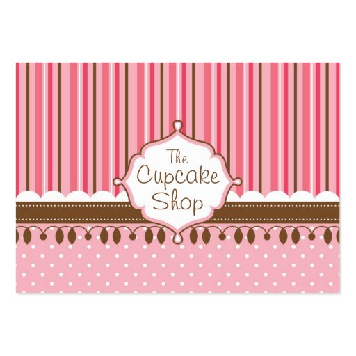 Cupcake Shop Chubby Business Cards