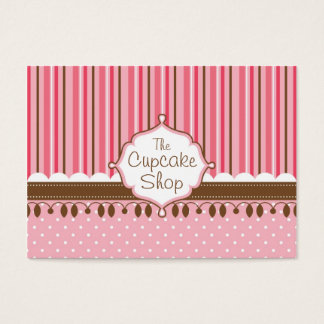 Cupcake Shop Chubby Business Card