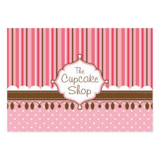 Cupcake Shop Chubby Large Business Card