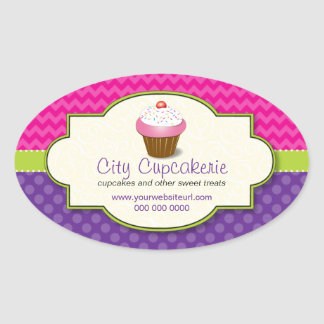 Cupcake Shop Promotional Sticker