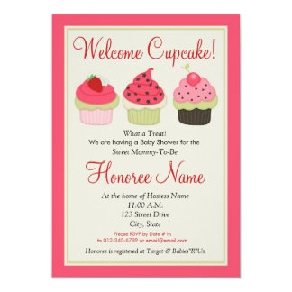 Cupcake Shower Invitation