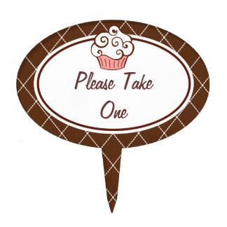 Cupcake Sign Cake Topper