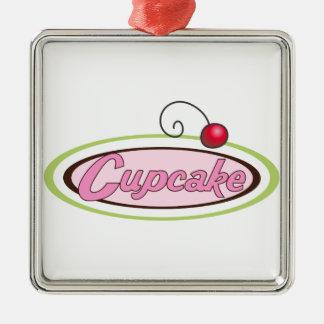 Cupcake Sign Metal Ornament