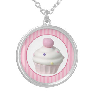 Cupcake Silver Plated Necklace