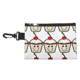 Cupcake Smile Face Accessory Bags