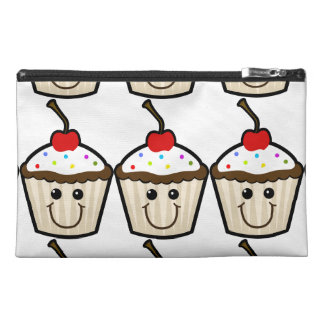 Cupcake Smile Face Travel Accessory Bag