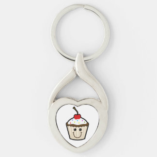 Cupcake Smile Face Keychain