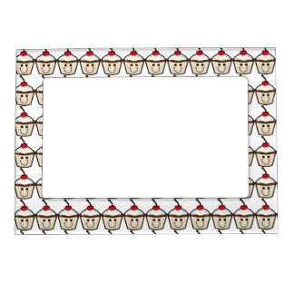 Cupcake Smile Face Magnetic Picture Frames