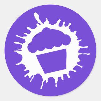 cupcake splatz classic round sticker