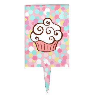 Cupcake Sprinkles Cake Topper