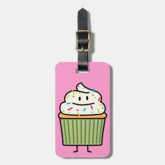 Cupcake Sprinkles vanilla icing sweet cup dessert Luggage Tag