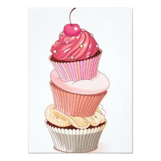 Cupcake Stack Invitations