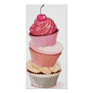 Cupcake Stack Poster
