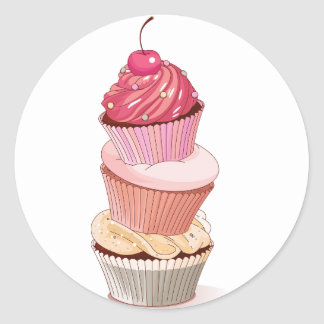 Cupcake Stack Stickers