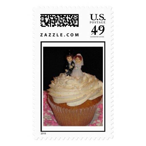Cupcake Stamp White