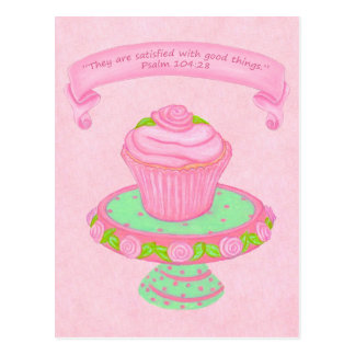 Cupcake Stand ~ Scripture 2 Postcard
