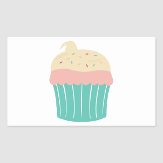 Cupcake Rectangle Sticker