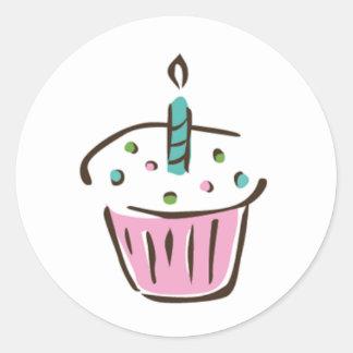 cupcake sticker - brite