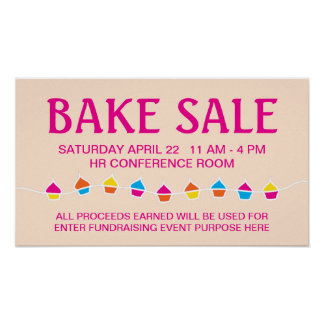 CUPCAKE string bake sale flyer Poster