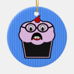 Cupcake Studmuffin Christmas Ornaments