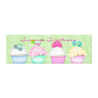 Cupcake Summer Sweetness Canvas Wrap