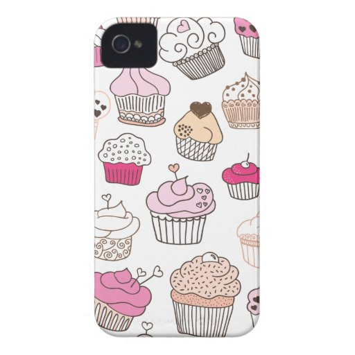 Cupcake sweet candy cake pattern iPhone 4 cover