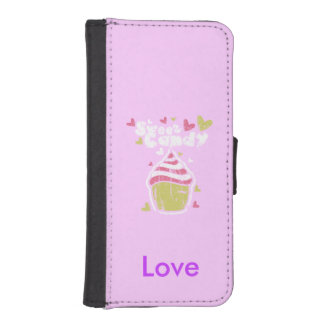 Cupcake Sweet Candy Personalized iPhone SE/5/5s Wallet